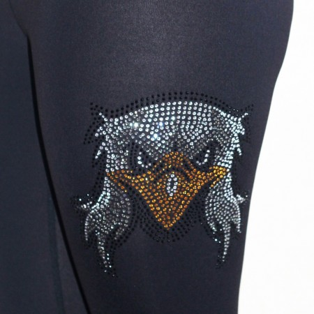 Tights med rhinestones